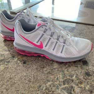 White and pink nikes